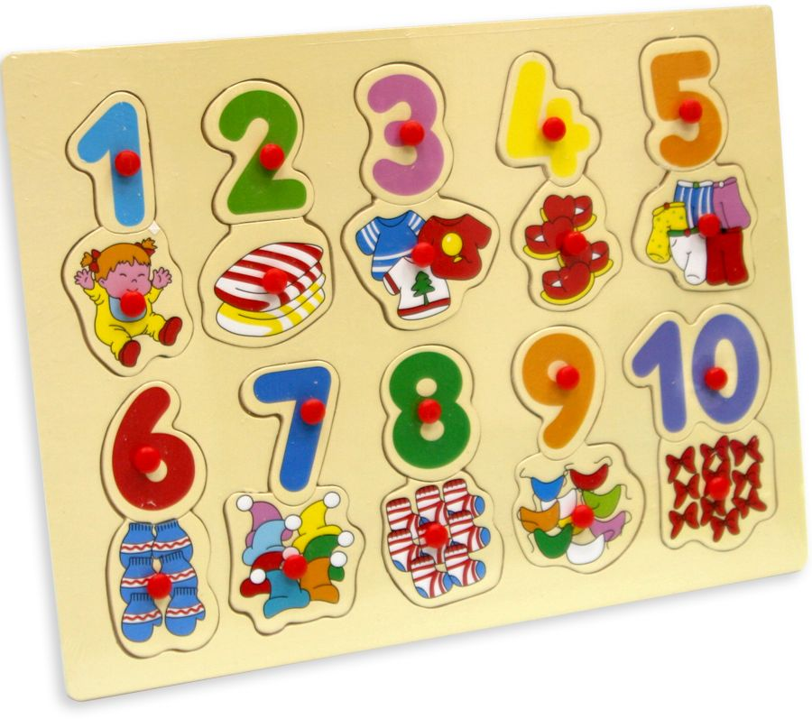 Фабрика Фантазий Пазл для малышей Цифры бомик пазл для малышей цифры цвет основы желтый