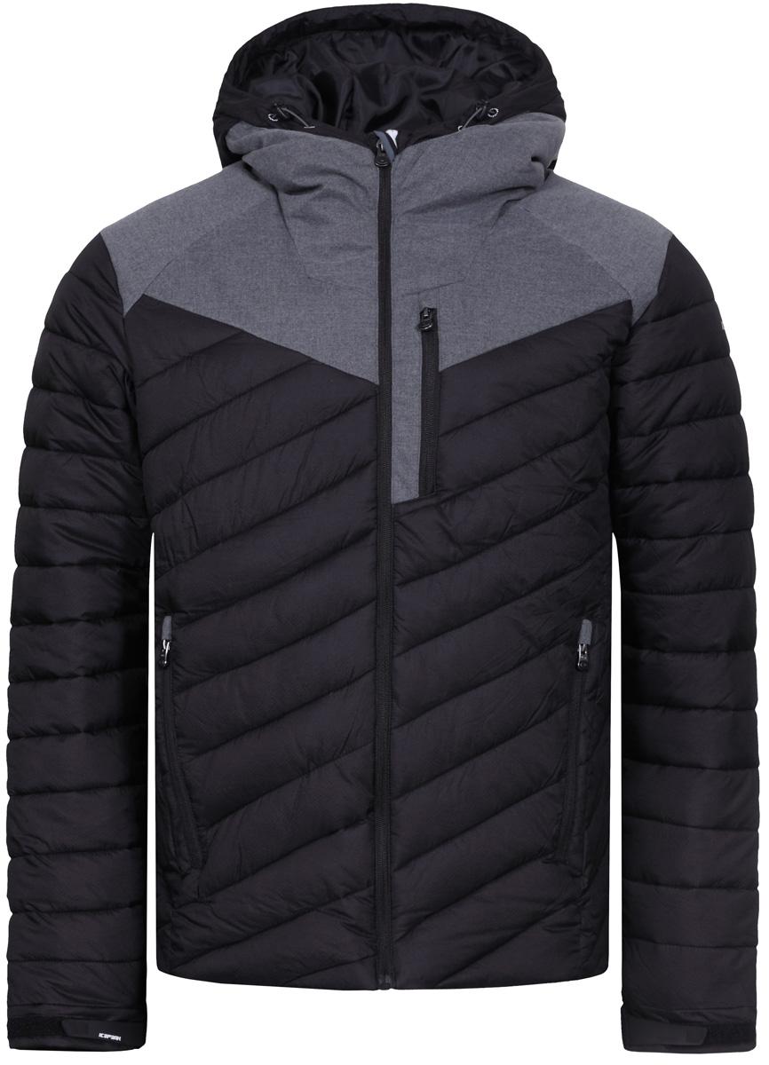 Куртка мужская Icepeak, цвет: черный. 856004650IV_990. Размер 48856004650IV_990Куртка мужская Icepeak выполнена из полиамида. Модель с длинными рукавами и капюшоном застегивается на застежку-молнию.