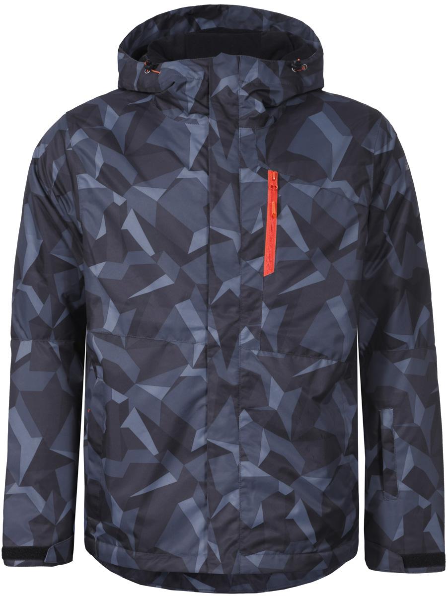 Куртка мужская Icepeak, цвет: черный. 856226571IV_260. Размер 46856226571IV_260Куртка мужская Icepeak выполнена из полиэстера. Модель с длинными рукавами и капюшоном застегивается на застежку-молнию.