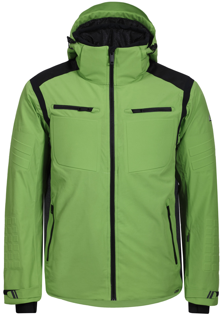 Куртка мужская Luhta, цвет: зеленый. 838523393LV_540. Размер 52838523393LV_540Горнолыжная куртка от Luhta выполнена из мембранной ткани, влагонепроницаема, ветронепродуваема, критические швы проклеены. Модель имеет отстегивающийся капюшон, регуляторы на капюшоне, по низу изделия и на рукавах, эластичные манжеты, боковые карманы на молниях.