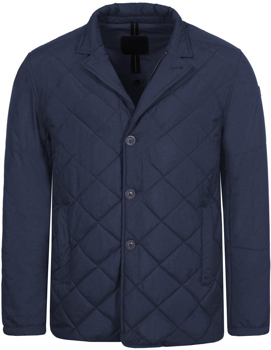 Куртка мужская Luhta, цвет: синий. 838550376LV_385. Размер 52838550376LV_385Стильная мужская куртка Luhta выполнена из полиэстера. Модель классического прямого кроя с длинными рукавами и отложным воротником застегивается на молнию и пуговицы спереди. Изделие дополнено двумя прорезными карманами. Куртка оформлена стегаными узором.