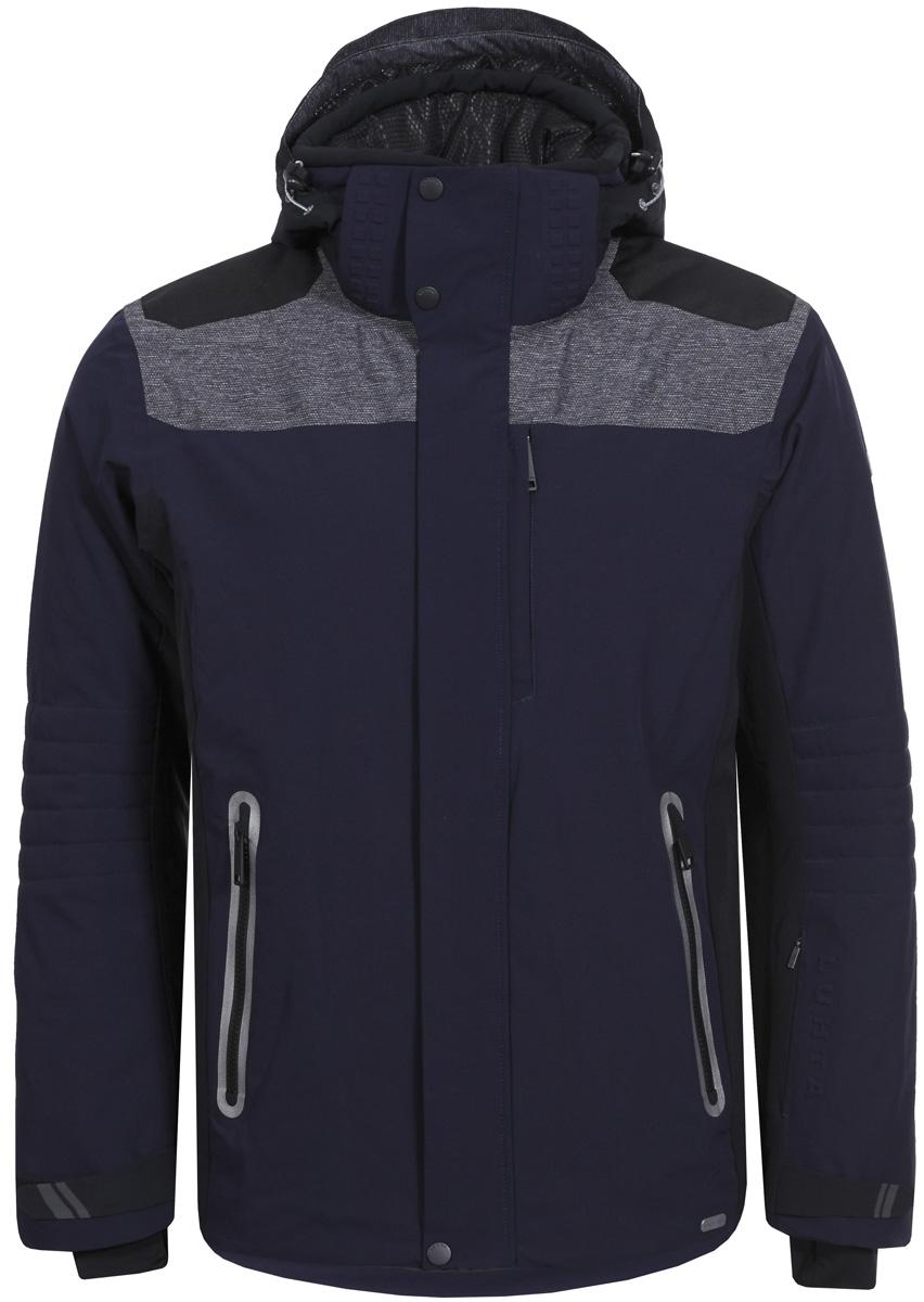 Куртка мужская Luhta, цвет: темно-синий. 838524393LV_380. Размер 54838524393LV_380Горнолыжная куртка от Luhta выполнена из мембранной ткани, влагонепроницаема, ветронепродуваема, критические швы проклеены. Модель имеет отстегивающийся капюшон, регуляторы на капюшоне, по низу изделия и на рукавах, эластичные манжеты, боковые карманы на молниях.