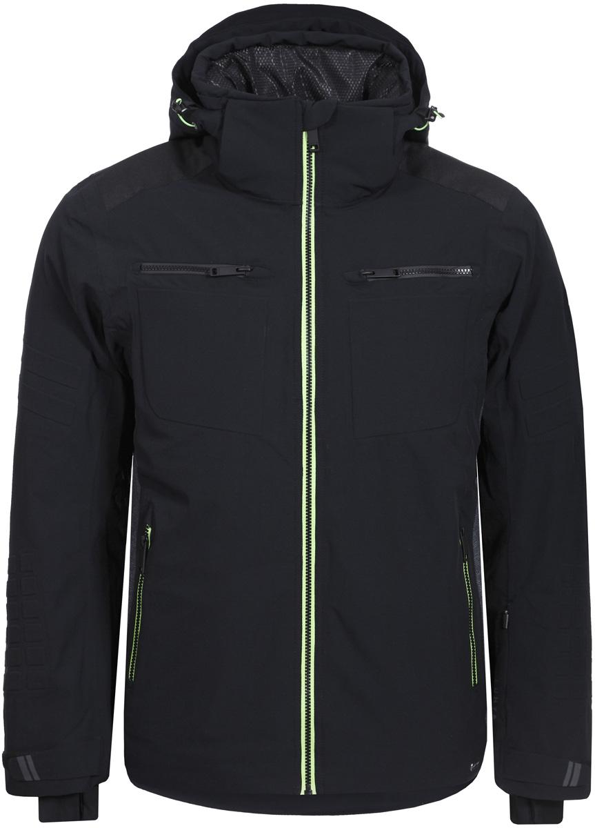 Куртка мужская Luhta, цвет: черный. 838523393LV_990. Размер 54838523393LV_990Горнолыжная куртка от Luhta выполнена из мембранной ткани, влагонепроницаема, ветронепродуваема, критические швы проклеены. Модель имеет отстегивающийся капюшон, регуляторы на капюшоне, по низу изделия и на рукавах, эластичные манжеты, боковые карманы на молниях.