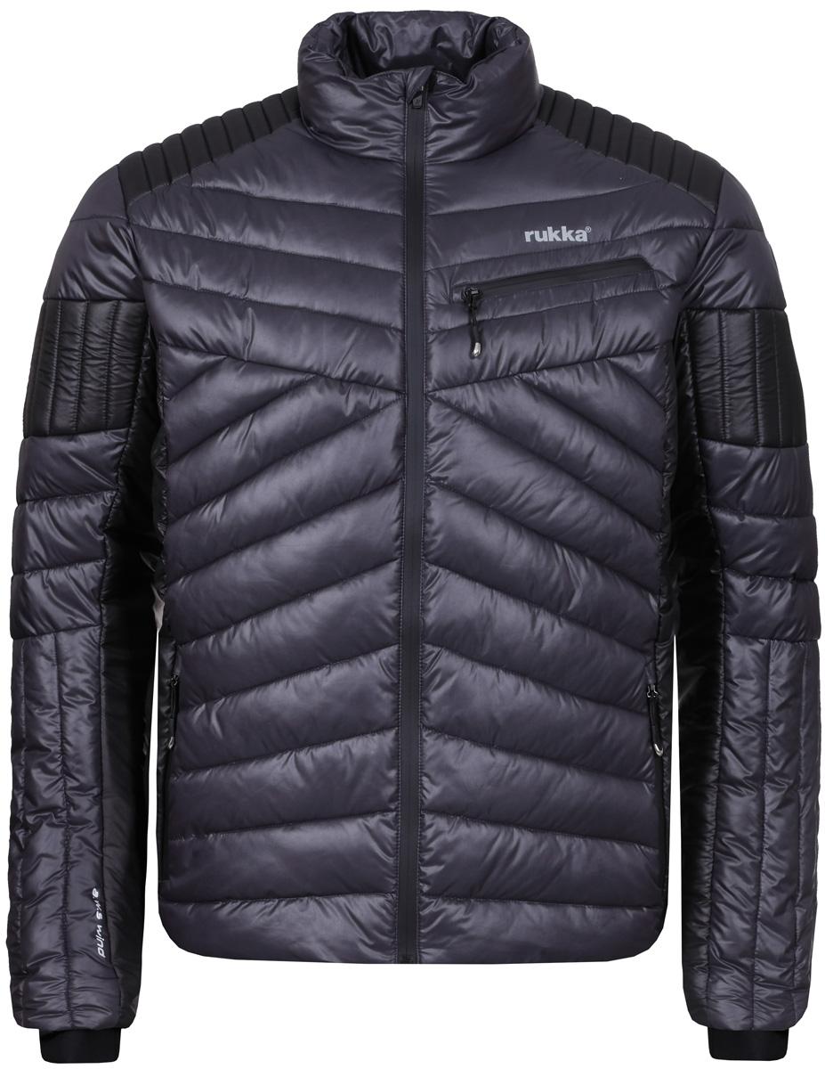 Куртка мужская Rukka, цвет: серый. 878606239RV_276. Размер S (48)878606239RV_276Стеганая мужская куртка Rukka выполнена из высококачественного материала с синтепоновым утеплителем. Модель прямого кроя с воротником-стойкой, надежно защищающим от ветра, застегивается на молнию с внутренней ветрозащитной планкой и дополнена тремя наружными и одним внутренним карманами. Куртка имеет регулируемые эластичные манжеты.