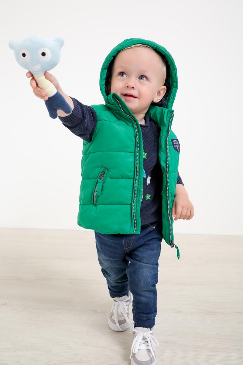 Жилет утепленный для мальчика Maloo by Acoola Libra, цвет: зеленый. 22150400001_2300. Размер 8022150400001_2300