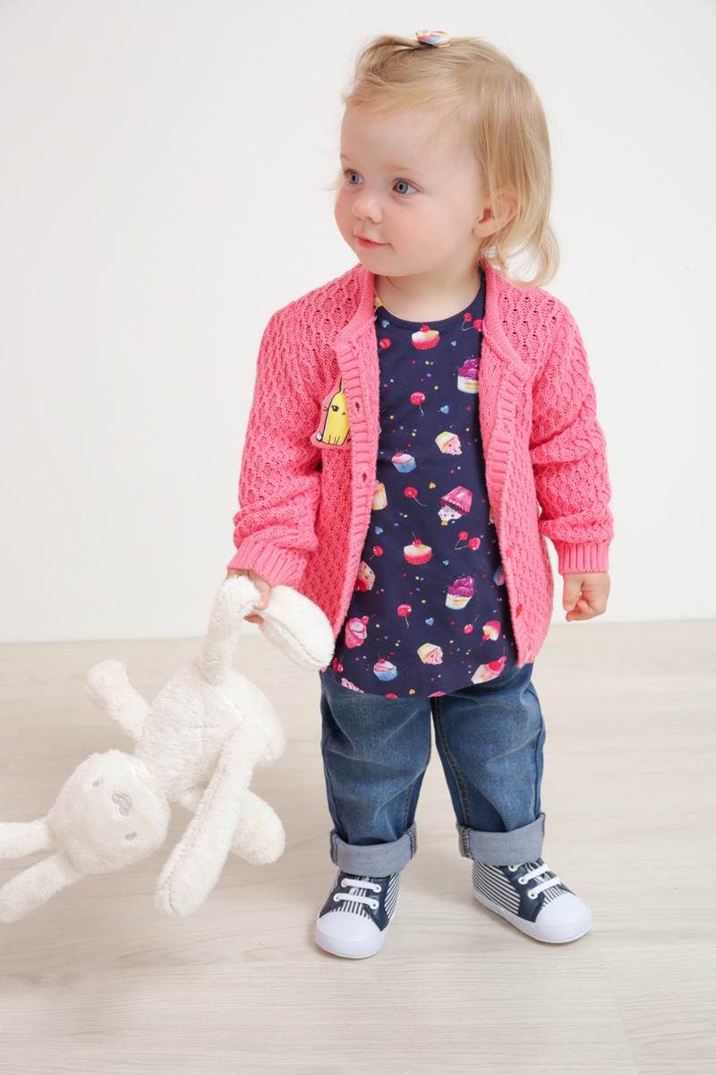 Кофта для девочки Maloo by Acoola Bozac, цвет: розовый. 22250130007_1400. Размер 7422250130007_1400