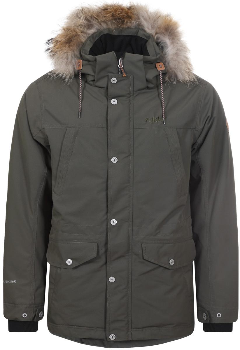 Куртка мужская Rukka, цвет: темно-зеленый. 878364286R8V_577. Размер S (48)878364286R8V_577Мужская куртка Rukka выполнена из высококачественного материала и превосходно подойдет для прохладных дней. Модель с длинными рукавами и воротником-стойкой застегивается на застежку-молнию и имеет ветрозащитный клапан на кнопках. Куртка дополнена капюшоном с сеховой опушкой. Объем талии регулируется при помощи внутреннего шнурка-кулиски. Внешняя сторона дополнена множеством кармонов.