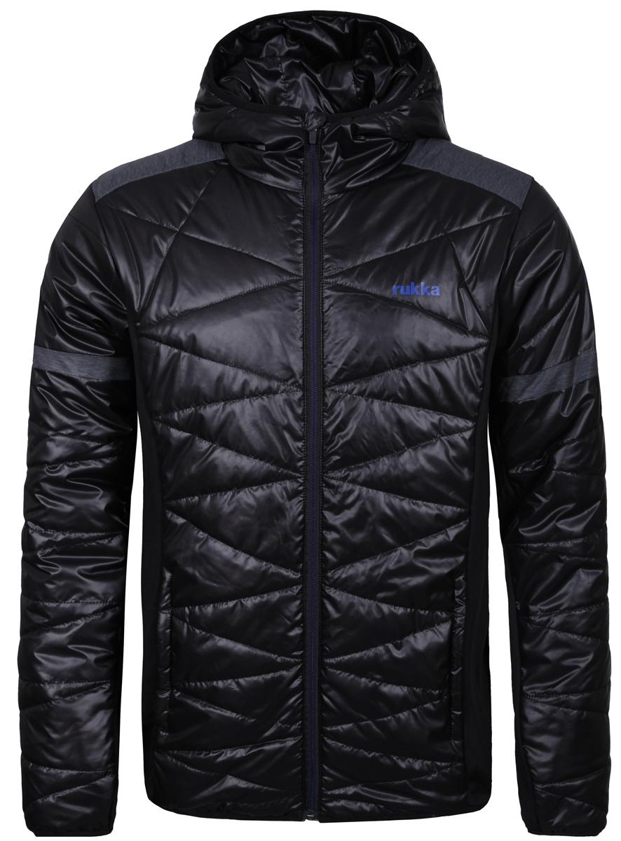 Куртка мужская Rukka, цвет: черный. 878624288R1V_990. Размер L (52)878624288R1V_990Великолепная утепленная куртка Rukka выполнена из полиэстера. Модель с длинными рукавами и несъемным капюшоном застегивается на застежку-молнию спереди. Верхний материал непромокаемый. По бокам - прорезные карманы. Прекрасно подойдет как для города, так и для отдыха на природе.