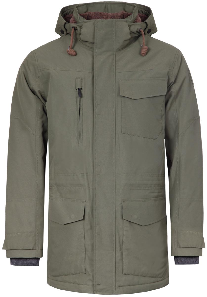 Куртка мужская Luhta, цвет: зеленый. 838529348LV_590. Размер 48838529348LV_590Стильная мужская куртка Luhta изготовлена из полиэстера. Куртка с капюшоном застегивается на застежку-молнию и дополнительно на клапан с липучками. Капюшон регулируется с помощью шнурка. Спереди расположены три накладных кармана с клапанами и на груди - прорезной карман на застежке-молнии. Манжеты рукавов дополнены трикотажными напульсниками. Объем по линии талии можно регулировать за счет шнурка-кулиски со стопперами.