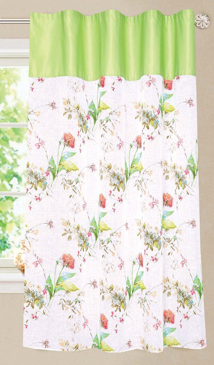 Штора Garden, на ленте, цвет: белый, высота 180 см. C 10311 W2138W1223 V13C 10311 W2138W1223 V13Полупрозрачная тюлевая штора Garden выполнена из батиста с цветочным рисунком, подходит для кухни. Сочетание плотной и полупрозрачной ткани, приятная цветовая гамма - привлекут к себе внимание и органично впишутся в интерьер помещения.Штора крепится на карниз при помощи ленты, которая поможет красиво и равномерно задрапировать верх.