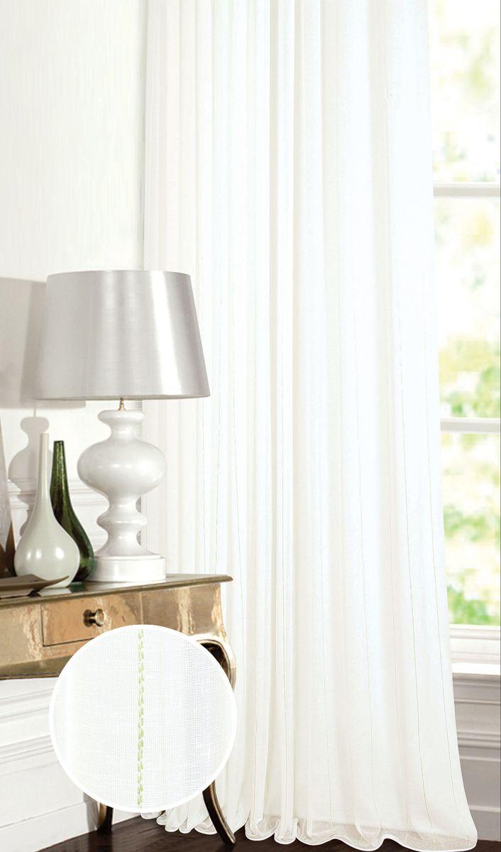 Штора Garden, на ленте, цвет: белый, высота 260 см. С W2337 V6С W2337 V6Тюлевая штора Garden выполнена из батиста белого цвета, с тонкими вертикальнымиполосами, бежевого цвета. Полупрозрачная ткань, хорошо подойдет для солнечной комнаты. Приятная текстура и цвет штор привлекут к себе внимание и органично впишутся в интерьерпомещения. Штора крепится на карниз при помощи ленты, которая поможет красиво и равномернозадрапировать верх.