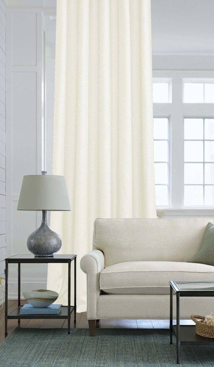 Штора Garden, на ленте, цвет: молочный, высота 260 см. С W2446 V71246С W2446 V71246Изящная штора Garden выполнена из однотонной ткани креп, молочного цвета. Приятная текстура и цвет штор привлекут к себе внимание и органично впишутся в интерьер помещения. Штора крепится на карниз при помощи ленты, которая поможет красиво и равномерно задрапировать верх.