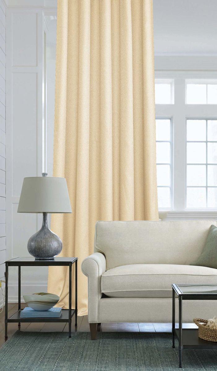 Штора Garden, на ленте, цвет: кремовый, высота 260 см. С W2446 V72296С W2446 V72296Изящная штора Garden выполнена из однотонной ткани креп, кремового цвета. Приятнаятекстура и цвет штор привлекут к себе внимание и органично впишутся в интерьер помещения.Штора крепится на карниз при помощи ленты, которая поможет красиво и равномернозадрапировать верх.