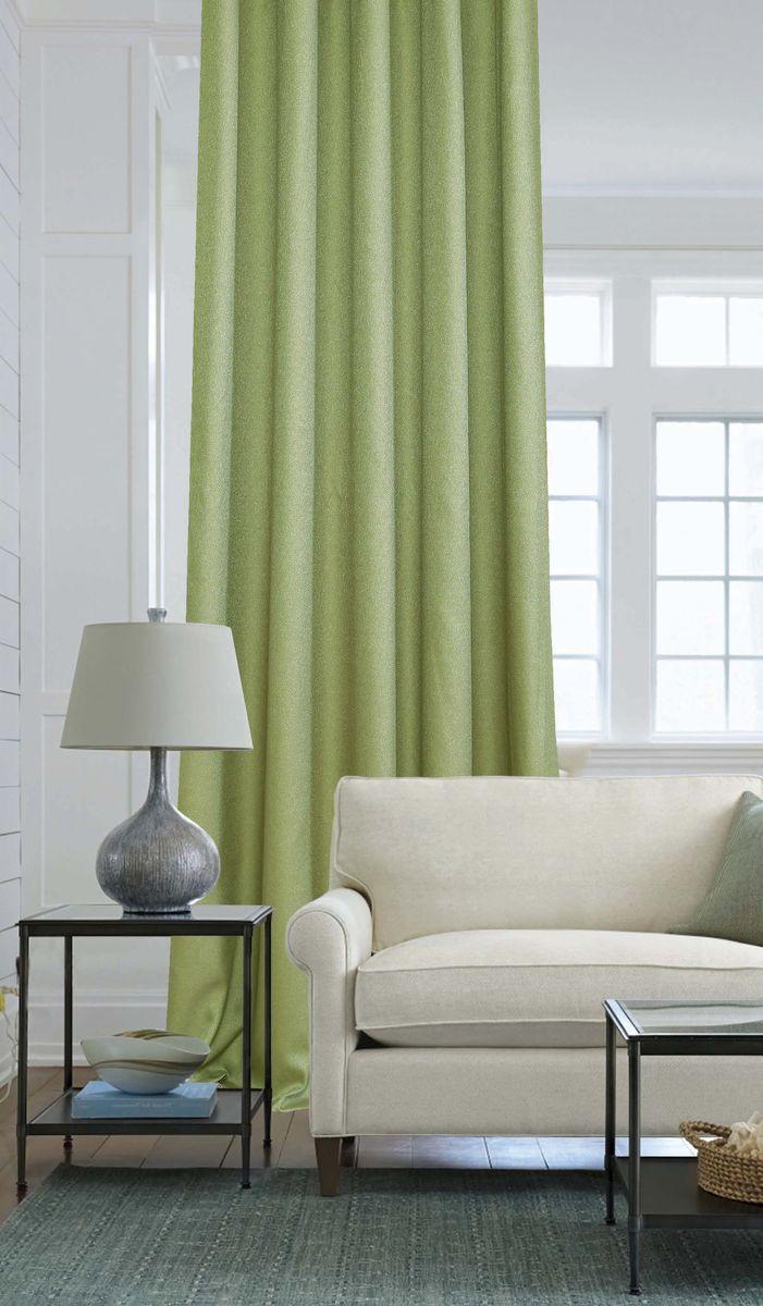 Штора Garden, на ленте, цвет: салатовый, высота 260 см. С W2446 V73217С W2446 V73217Изящная штора Garden выполнена из однотонной ткани креп, салатового цвета. Приятная текстура и цвет штор привлекут к себе внимание и органично впишутся в интерьер помещения.Штора крепится на карниз при помощи ленты, которая поможет красиво и равномерно задрапировать верх.