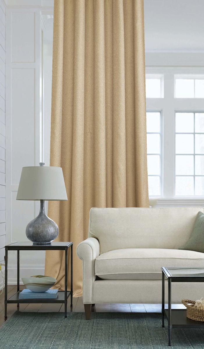 Штора Garden, на ленте, цвет: песочный, высота 260 см. С W2446 V78145С W2446 V78145Изящная штора Garden выполнена из однотонной ткани креп, песочного цвета. Приятная текстура и цвет штор привлекут к себе внимание и органично впишутся в интерьер помещения.Штора крепится на карниз при помощи ленты, которая поможет красиво и равномерно задрапировать верх.