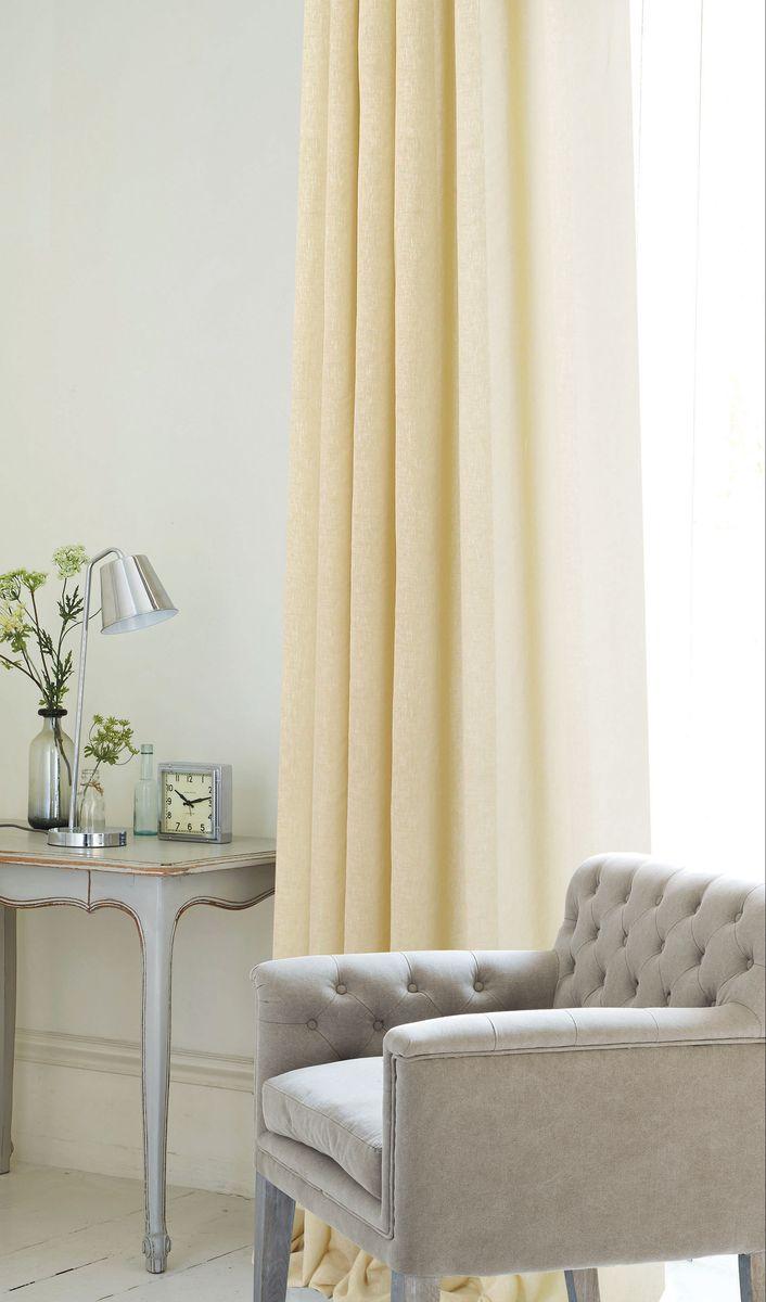 Штора Garden, на ленте, цвет: бежевый, высота 260 см. С W2480 V3С W2480 V3Штора для гостиной выполненная из однотонной ткани рогожка. Приятная текстура и цвет штор привлекут к себе внимание и органично впишутся в интерьер помещения. Штора крепится на карниз при помощи ленты, которая поможет красиво и равномерно задрапировать верх.