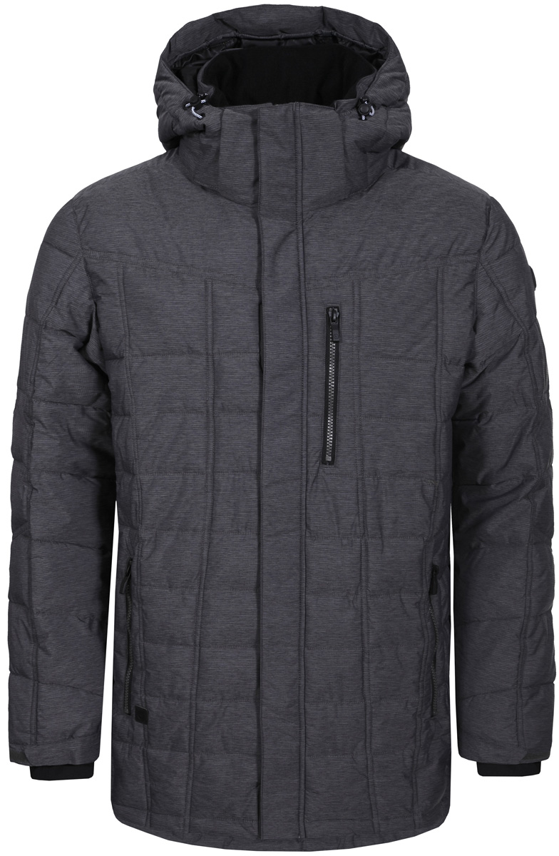 Куртка мужская Luhta, цвет: серый. 838567366LV_817. Размер 2XL (56)838567366LV_817Мужская куртка Luhta выполнена из непромокаемой ветрозащитной ткани. Куртка с воротником-стойкой и капюшоном застегивается на удобную застежку-молнию спереди с ветрозащитной планкой на кнопках. Рукава дополнены внутренними эластичными манжетами. Спереди расположены втачные карманы на застежках-молниях.