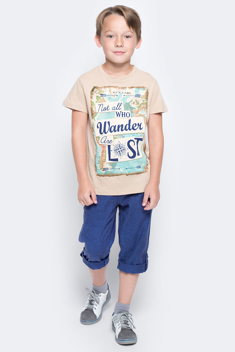 Футболка для мальчика Sela, цвет: светло-ментоловый. Ts-811/1074-7213. Размер 152, 12 лет футболка для мальчика sela цвет светло серый меланж ts 811 109 7331 размер 152