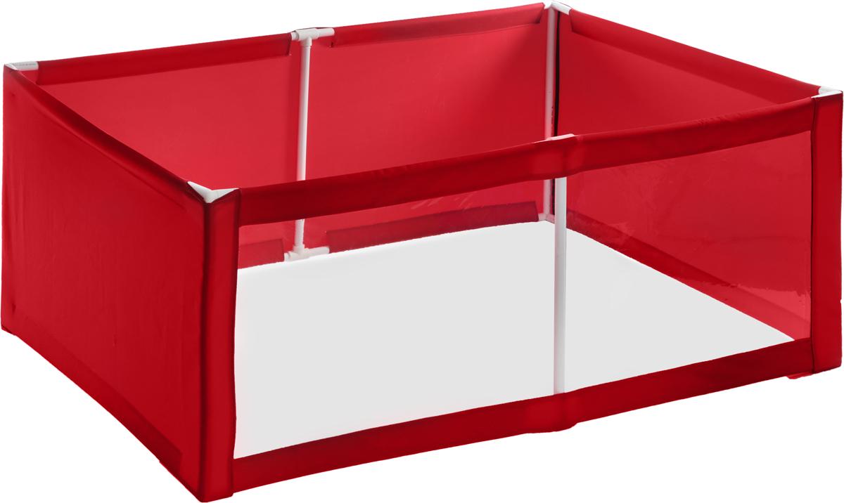 Вольер-манеж для животных  Заря-Плюс , выставочный, разборный, цвет: красный, 150 х 100 х 60 см