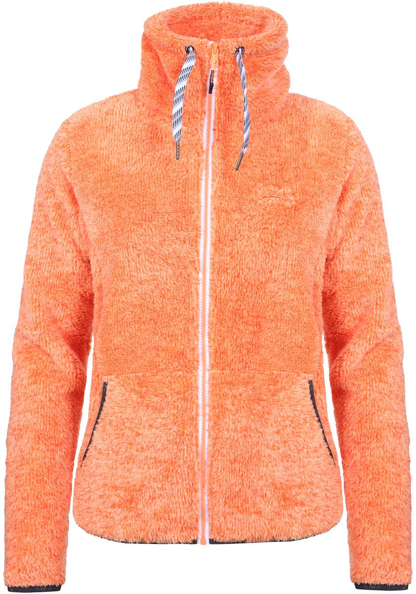 Толстовка женская Icepeak, цвет: оранжевый. 854954638IV_443. Размер 40 (46)854954638IV_443Толстовка женская Icepeak выполнена из полиэстера. Модель с длинными рукавами и воротником стойкой застегивается на застежку-молнию.