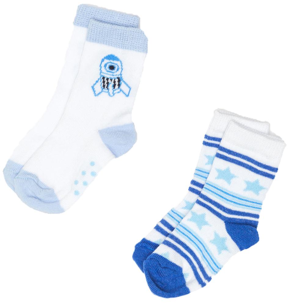 Носки для мальчика Maloo by Acoola Omastar, цвет: белый, синий, 2 пары. 22154420007_8000. Размер 12/1422154420007_8000Носки для мальчика Maloo by Acoola Omastar, изготовленные из высококачественного материала, идеально подойдут вашему малышу. Эластичная резинка плотно облегает ножку ребенка, не сдавливая ее, благодаря чему малышу будет комфортно и удобно. Усиленная пятка и мысок обеспечивают надежность и долговечность.