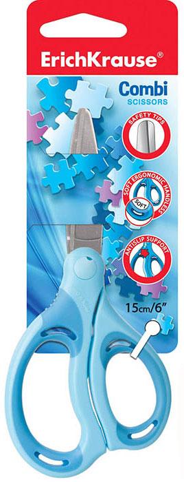 ArtBerry Ножницы Combi цвет голубой длина 15 см1132515_голубойНожницы ArtBerry Combi изготовлены из высококачественной нержавеющей стали с безопасными закругленными концами лезвий. Эргономичные пластиковые ручки с мягкими резиновыми вставками предотвращают скольжение и натирание, обеспечивая надежную защиту для детских пальчиков.