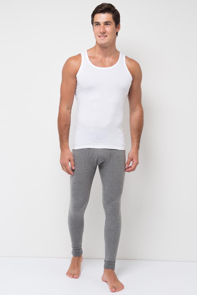 Термобелье брюки мужские Sela, цвет: темно-серый меланж. LPUb-255/013-7371. Размер S (46)LPUb-255/013-7371Мужские термобрюки от Sela выполнены из хлопкового трикотажа. Модель облегающего кроя на талии дополнена широкой эластичной резинкой.