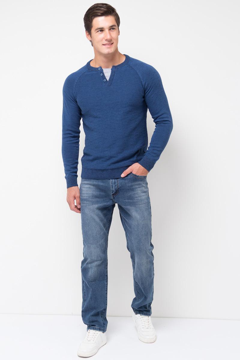 Джинсы мужские Sela, цвет: синий джинс. PJ-235/097-7361. Размер 30-34 (46-34)PJ-235/097-7361Мужские джинсы от Sela выполнены из эластичного хлопка. Модель зауженного кроя с низкой посадкой имеет пятикарманный крой: спереди – два втачных кармана и один маленький кармашек, сзади – два накладных кармана. Джинсы в поясе застегиваются на пуговицу, имеют ширинку на застежке-молнии и шлевки для ремня.