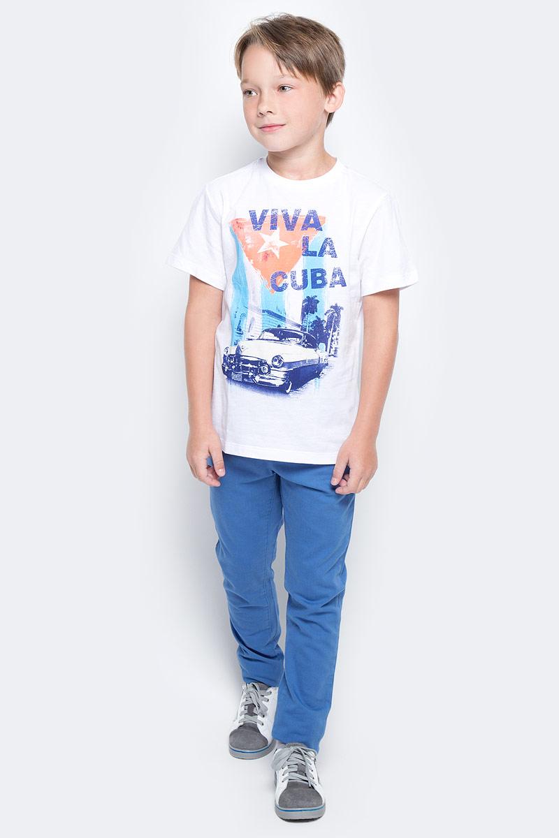 Футболка для мальчика Sela, цвет: белый. Ts-811/578-7214. Размер 146, 11 летTs-811/578-7214Стильная футболка для мальчика Sela изготовлена из натурального хлопка и оформлена оригинальным принтом. Воротник дополнен мягкой трикотажной резинкой.Яркий цвет модели позволяет создавать модные образы.