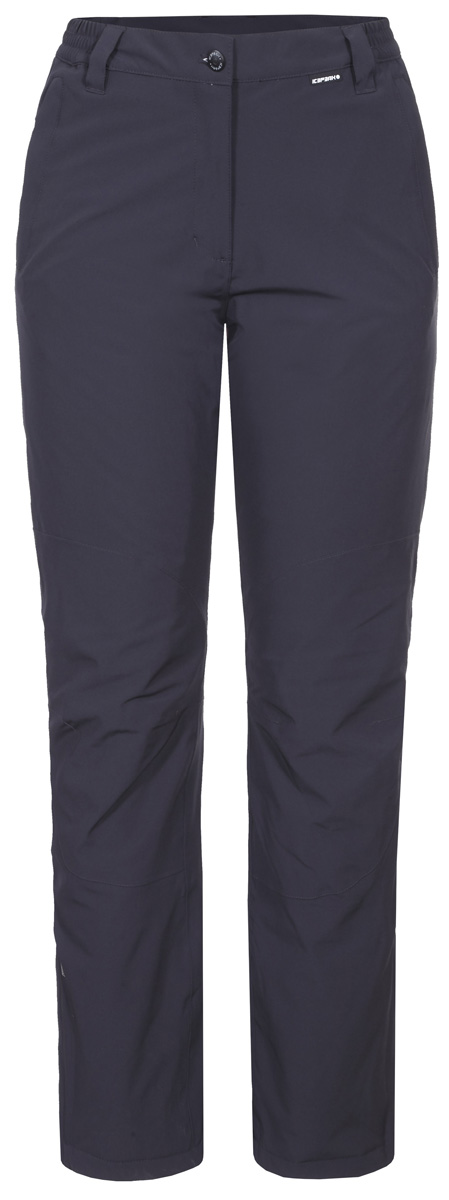 Брюки женские Icepeak, цвет: темно-серый. 854133535IV_290. Размер 38 (44)854133535IV_290Женские брюки от Icepeak выполнены из эластичного полиэстера. Модель застегивается на пуговицу в талии и ширинку на молнии, имеются шлевки для ремня.