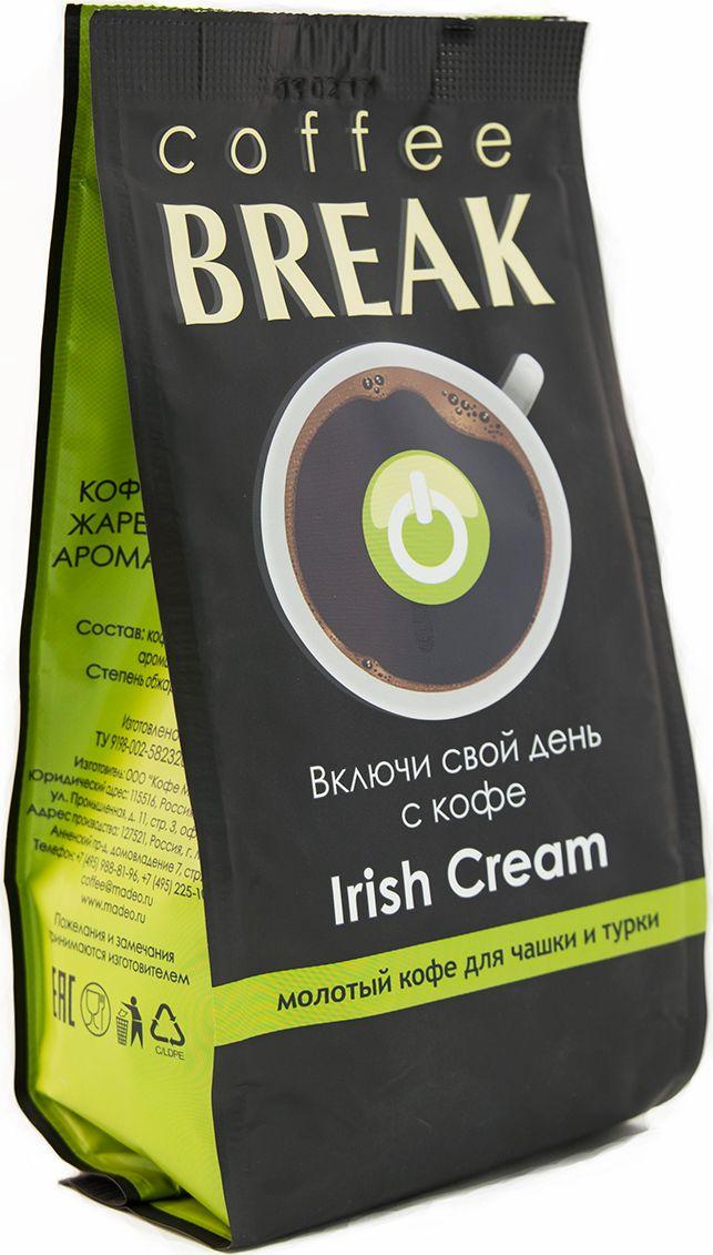 Break Irish Cream кофе молотый, 200 г4607132504190Кофе Break Irish Cream — это великолепное сочетание 100% арабики и выдержанного ирландского ликера с оттенками нежных сливок. Мягкий, насыщенный, немного кремовый вкус дополнен оттенками шоколада, виски, какао и ванили.