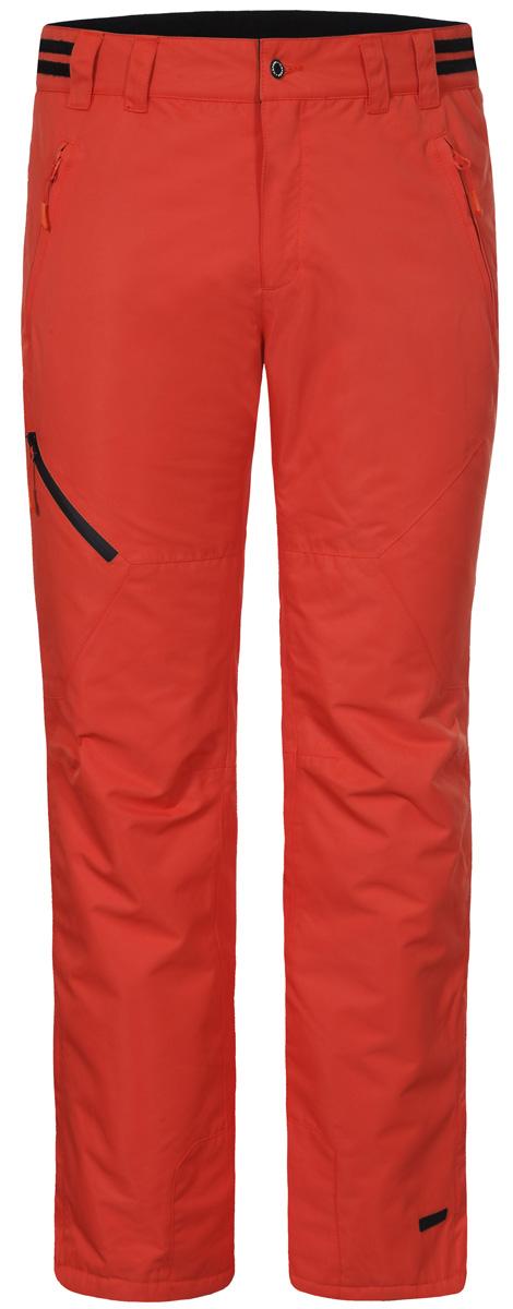 Брюки мужские Icepeak, цвет: оранжевый. 857090659IV_490. Размер 54857090659IV_490Мужские брюки от Icepeak выполнены из полиэстера. Модель застегивается на пуговицу в талии и ширинку на молнии, имеются шлевки для ремня.