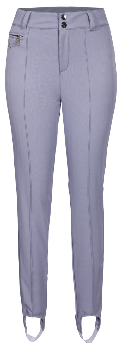 Брюки женские Luhta, цвет: светло-серый. 838715368LV_220. Размер 38 (46)838715368LV_220Женские брюки облегающего силуэта Luhta выполнены из эластичного полиэстера. Модель в поясе застегивается на кнопки и ширинку на молнию, имеются шлевки для ремня. Спереди брюки дополнены карманом на застежке-молнии.