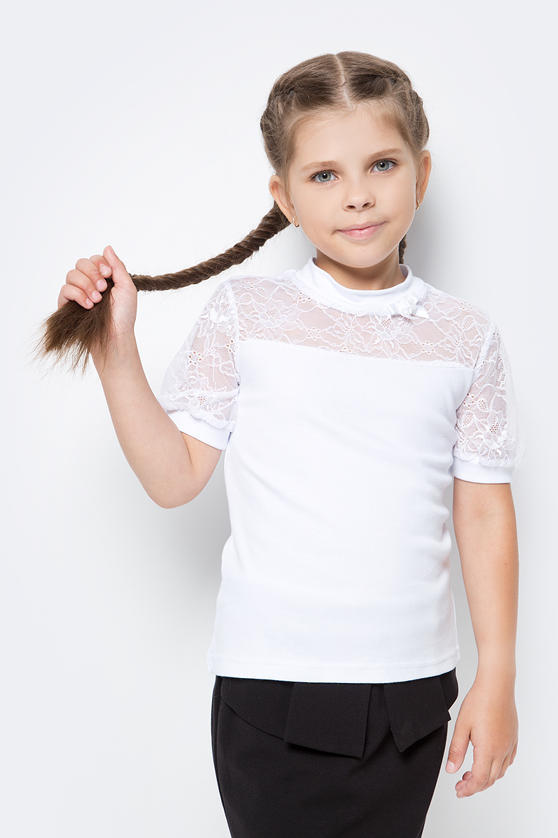 Блузка для девочки Nota Bene, цвет: белый. CJR270431_1. Размер 158