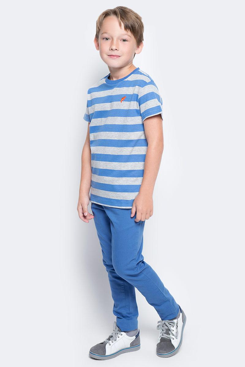 Футболка для мальчика Sela, цвет: индиго. Ts-811/1075-7213. Размер 152, 12 летTs-811/1075-7213Стильная футболка для мальчика Sela изготовлена из натурального хлопка и оформлена принтом в полоску. Воротник дополнен мягкой трикотажной резинкой.Яркий цвет модели позволяет создавать модные образы.
