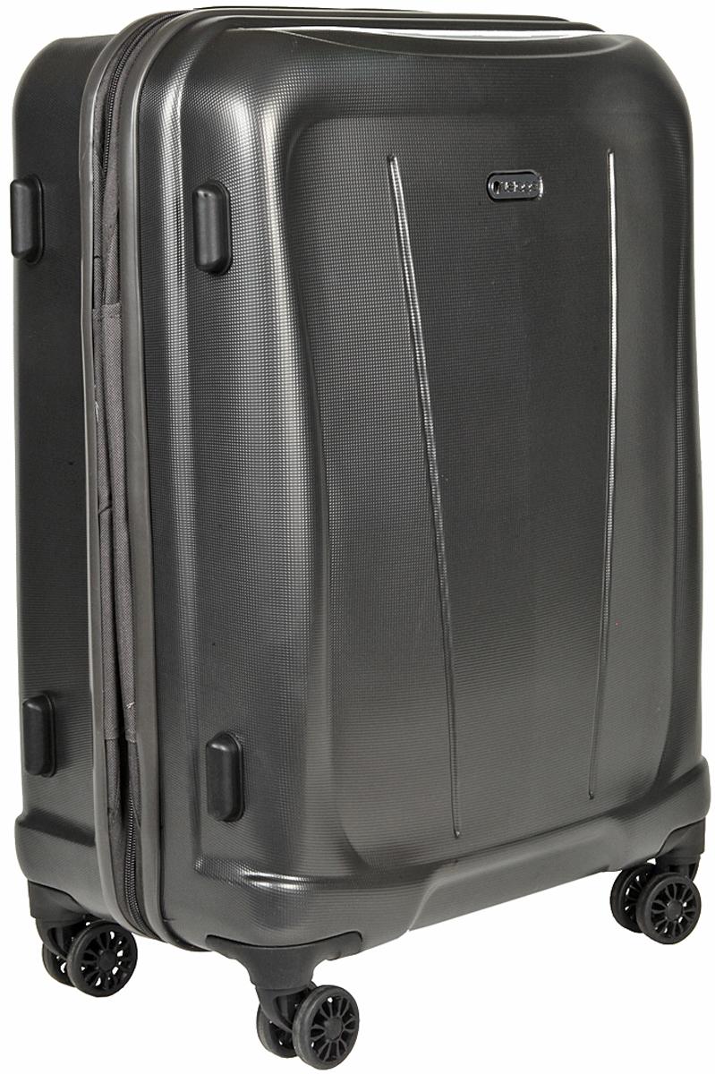 Чемодан-тележка Verage, цвет: серый, 70 л. GM15105w24GM15105w24 greyзакрывается по периметру на двухстороннюю молниюоснащён верхней ручкой, четырьмя колесиками 360°внутри один отдел для одеждыодин сетчатый карман на молнииодна техническая молния с бегункомвозможность увеличения чемодана на 20% (за счет молнии)встроенный кодовый замок максимальная высота выдвижной ручки 47 смобъем 70 лвнутрений размер 60-45-26 смвес 3.8 кг