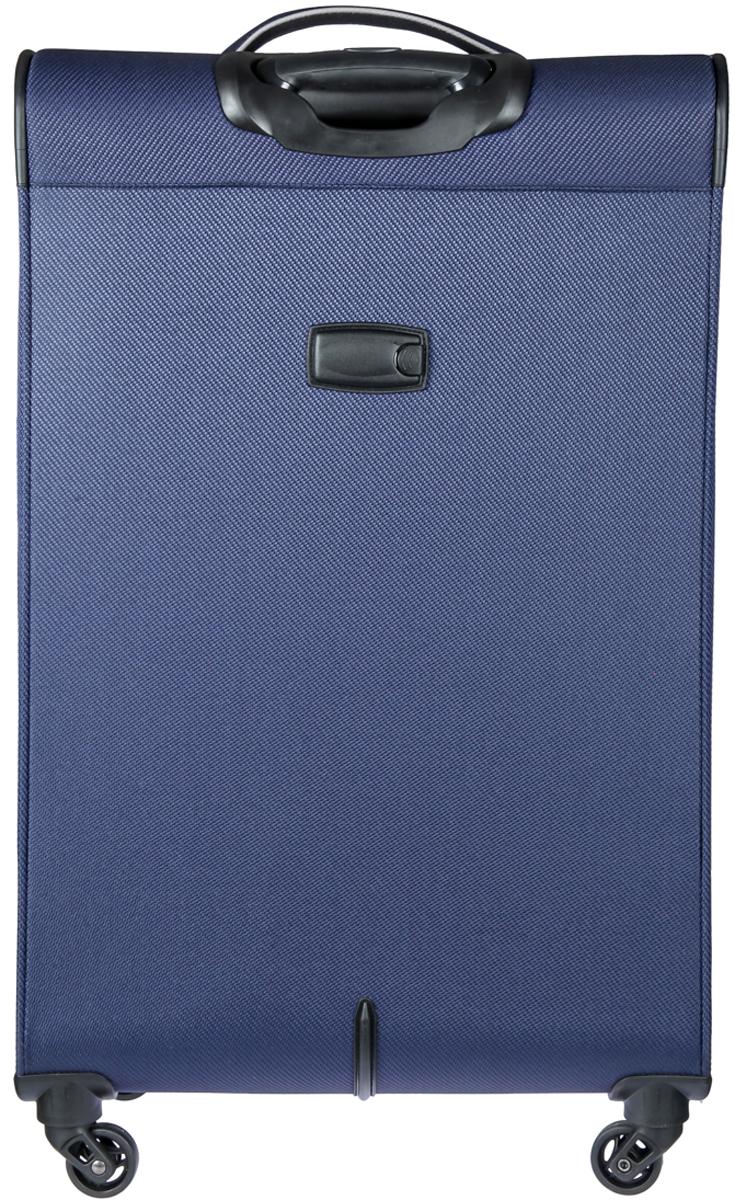 Чемодан-тележка Verage, цвет: синий, 102 л. GM16033w28GM16033w28 navyЗакрывается по периметру на двухстороннюю молнию, оснащён верхней и боковой ручкой, четырьмя колесиками 360°, внутри один отдел для одежды, один карман на молнии, одна техническая молния с бегунком, снаружи на передней стенке два карман на молнии, возможность увеличения чемодана на 20% (за счет молнии), встроенный кодовый замок TSA, максимальная высота выдвижной ручки 36 см, объем102 л, внутрений размер 70-47-25 см, вес 4 кг