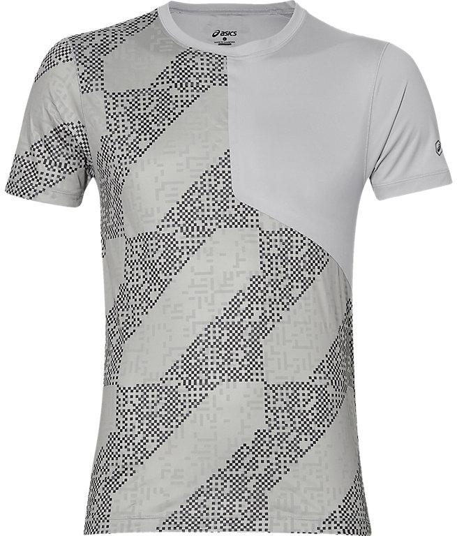 Футболка для бега мужская Asics Lite-Show SS Top, цвет: серый. 146617-1189. Размер XXL (56)