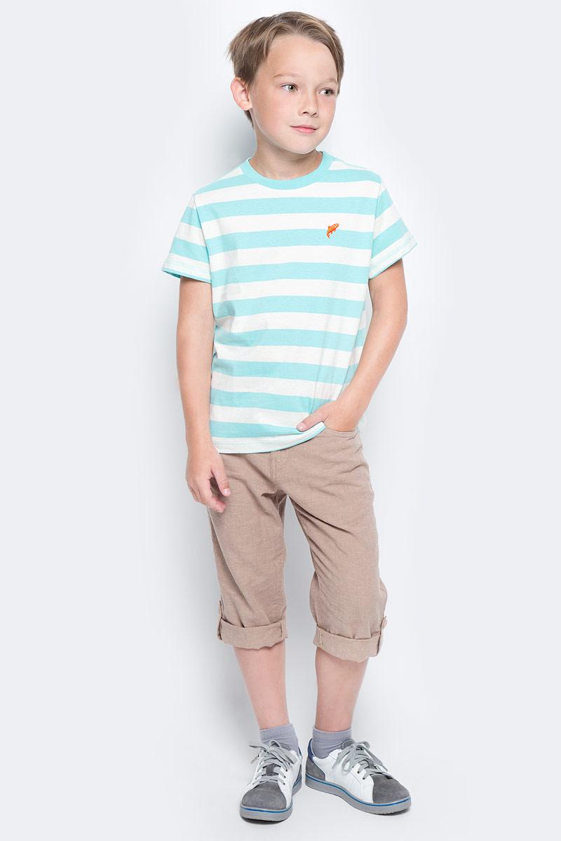 Футболка для мальчика Sela, цвет: голубой. Ts-811/1075-7213. Размер 128, 8 летTs-811/1075-7213Стильная футболка для мальчика Sela изготовлена из натурального хлопка и оформлена принтом в полоску. Воротник дополнен мягкой трикотажной резинкой.Яркий цвет модели позволяет создавать модные образы.