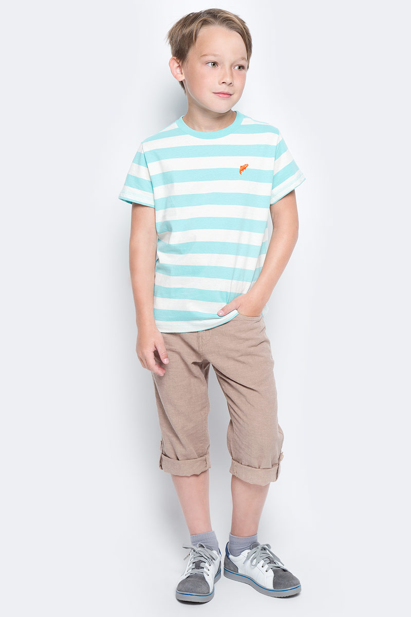 Футболка для мальчика Sela, цвет: голубой. Ts-811/1075-7213. Размер 152, 12 лет футболка для мальчика sela цвет светло серый меланж ts 811 109 7331 размер 152