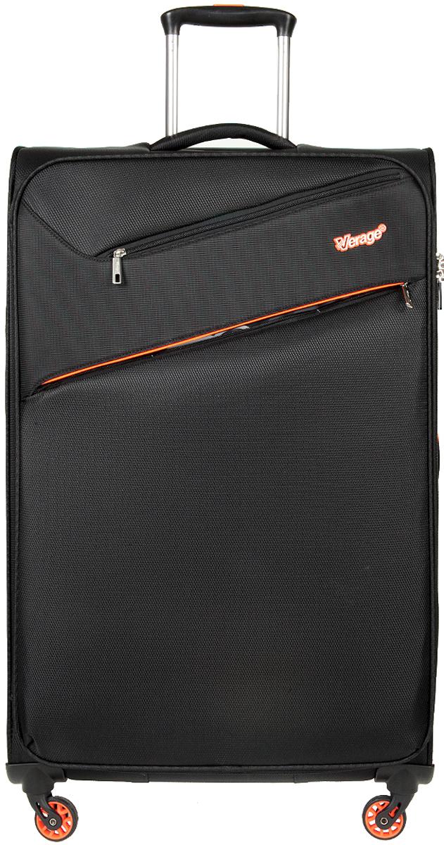 Чемодан-тележка Verage, цвет: черный, 97 л. GM15089 w28GM15089 w28 blackзакрывается по периметру на двухстороннюю молниюоснащён верхней, боковой ручкой, четырьмя колесиками 360°внутри один отдел для одеждыодин сетчатый карман на молнииодна техническая молния с бегункомснаружи на передней стенке два кармана на молниимаксимальная высота выдвижной ручки 36 смобъем 97 лвнутрений размер 75-46-28 смвес 2.35 кг