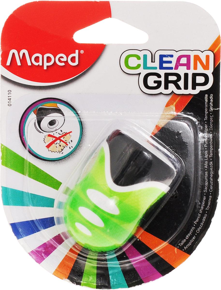Maped Точилка Clean Grip цвет салатовый14110_салатовыйТочилка Maped Clean Grip имеет одно отверстие. Оснащена автоматическим открытием и закрытием. Нескользящая фактура изготовлена для удобства удержания в руке.