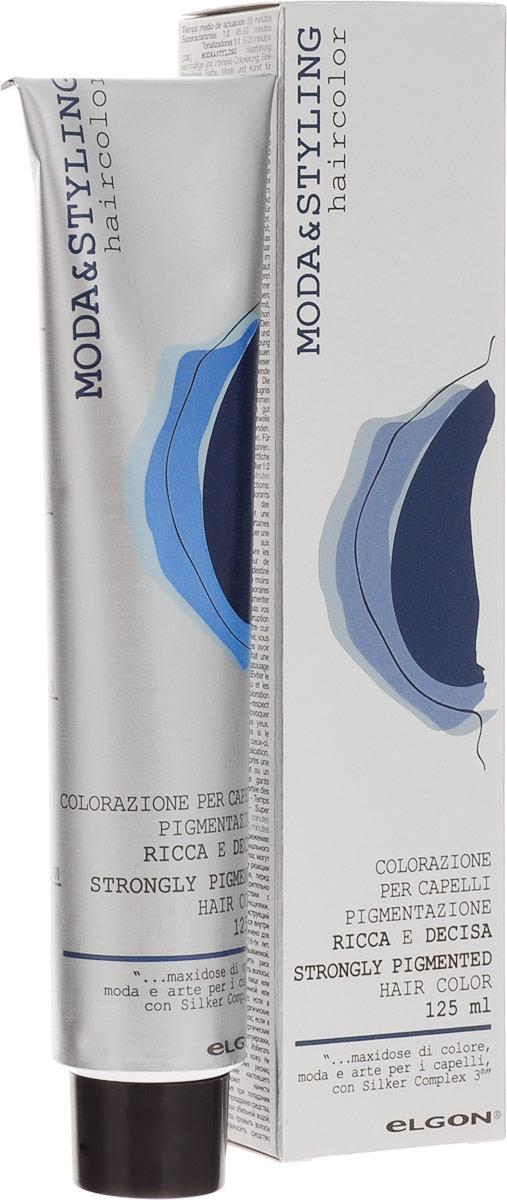 Elgon Moda&Styling Крем-краска 5/11 Intense Gray Light Brown - Светло-каштановый интенсивно-пепельный, 125мл0101010511AПерманентный краситель нового поколения Elgon Moda & Styling создан с учетом основных тенденций в моде наокрашивание волос. Палитра предлагает 83 актуальных цвета для осуществления самых смелых колористическихидей.Краситель Moda & Styling содержит в своем составе современный Silker Complex 3, сочетающий протеины шелка иполимеры для защиты волос от агрессивного действия химических агентов и поддержания целостности структурыволос. Красители M&S гарантируют колористам самый необходимый набор оттенков, сохранение качества волос ивысокую рентабельность процедуры окрашивания. Микропигменты нового поколения обеспечивают получение насыщенного, плотного, блестящего и стойкого цвета, атакже 100% окрашивание седых волос при соблюдении технологического процесса.При повторном окрашивании при окрашивании седины во все типы смесей добавляйте 5-10 граммов крема 0/0 кбазовой смеси краски для выравнивания цвета и более стойкого окрашивания.Для усиления красных оттенков, выравнивания цвета и повышения стойкости к вымыванию цвета смешивайте крем0/0 в соотношении 5-10 грамм к 50 граммам краски.При окрашивании светлых волос добавляйте в смесь до 50% крема (25 граммов краски + 25 граммов крема 0/0). Этоусилит действие краски.