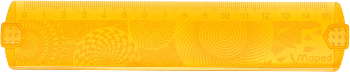 Maped Линейка Geocustom цвет оранжевый 15 см254015_оранжевыйЛинейка Maped Geocustom, выполненная из пластика, имеет шкалу на 15 см. Обязательный атрибут любого школьника.Сделайте линейку неповторимой: раскрасьте рисунки на обратной стороне. Высушите. Удалите избыток краски тряпочкой.