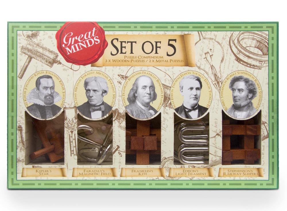 Professor Puzzle Головоломка Набор головоломок Great Minds-Set of 5