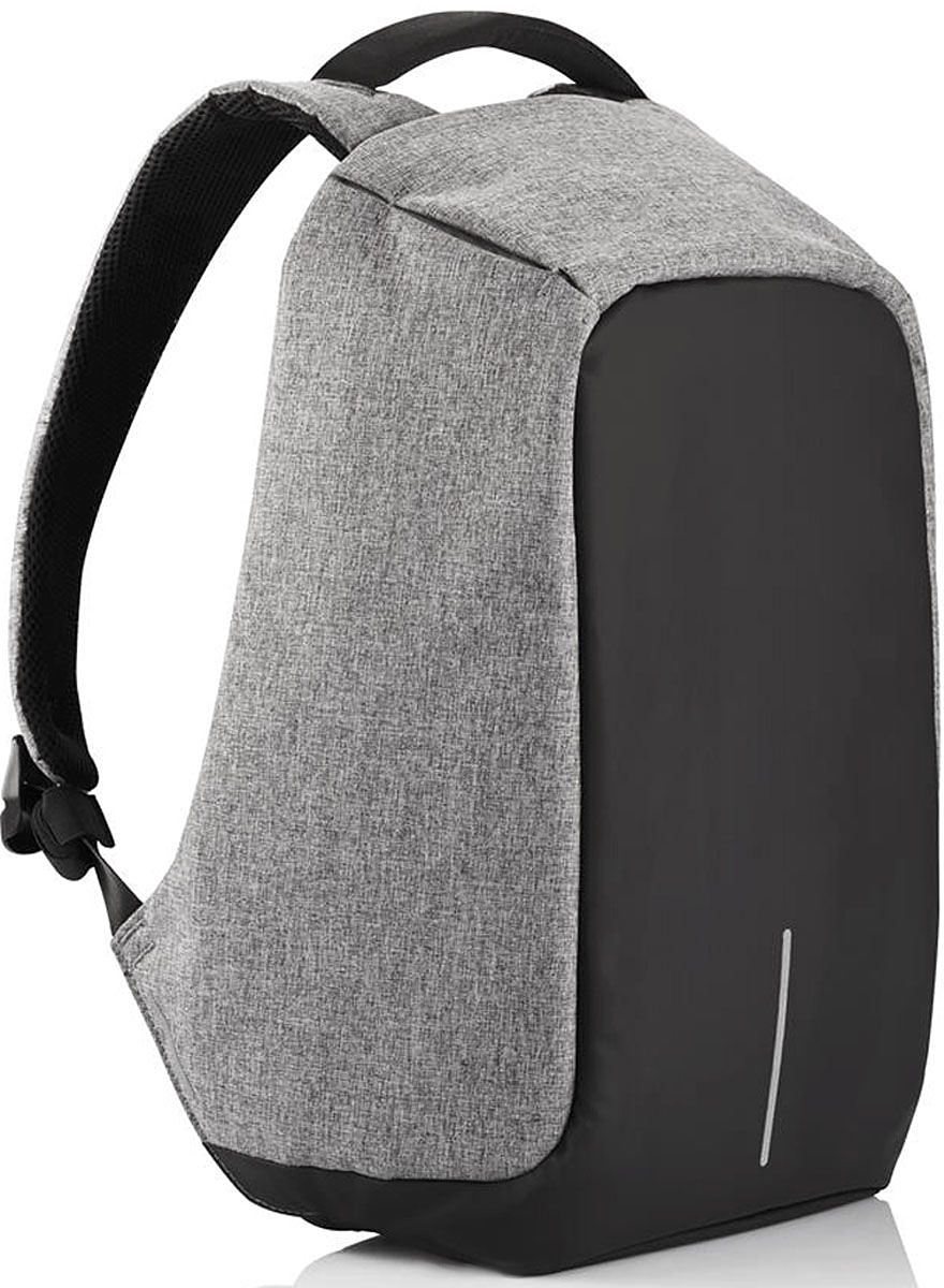 Рюкзак для ноутбука до 15 XD Design Bobby, цвет: серый. Р705.542Р705.542• Полная защита от карманников: не открыть, не порезать• USB-порт для зарядки гаджетов от спрятанного внутри рюкзака аккумулятора (аккумулятор в комплект не входит)• Светоотражающие полосы• Супер-легкий: на 25% легче аналогов• Отделение для ноутбука до 15,6• Отделение для планшета• Влагозащита• Лямка для крепления на чемодан