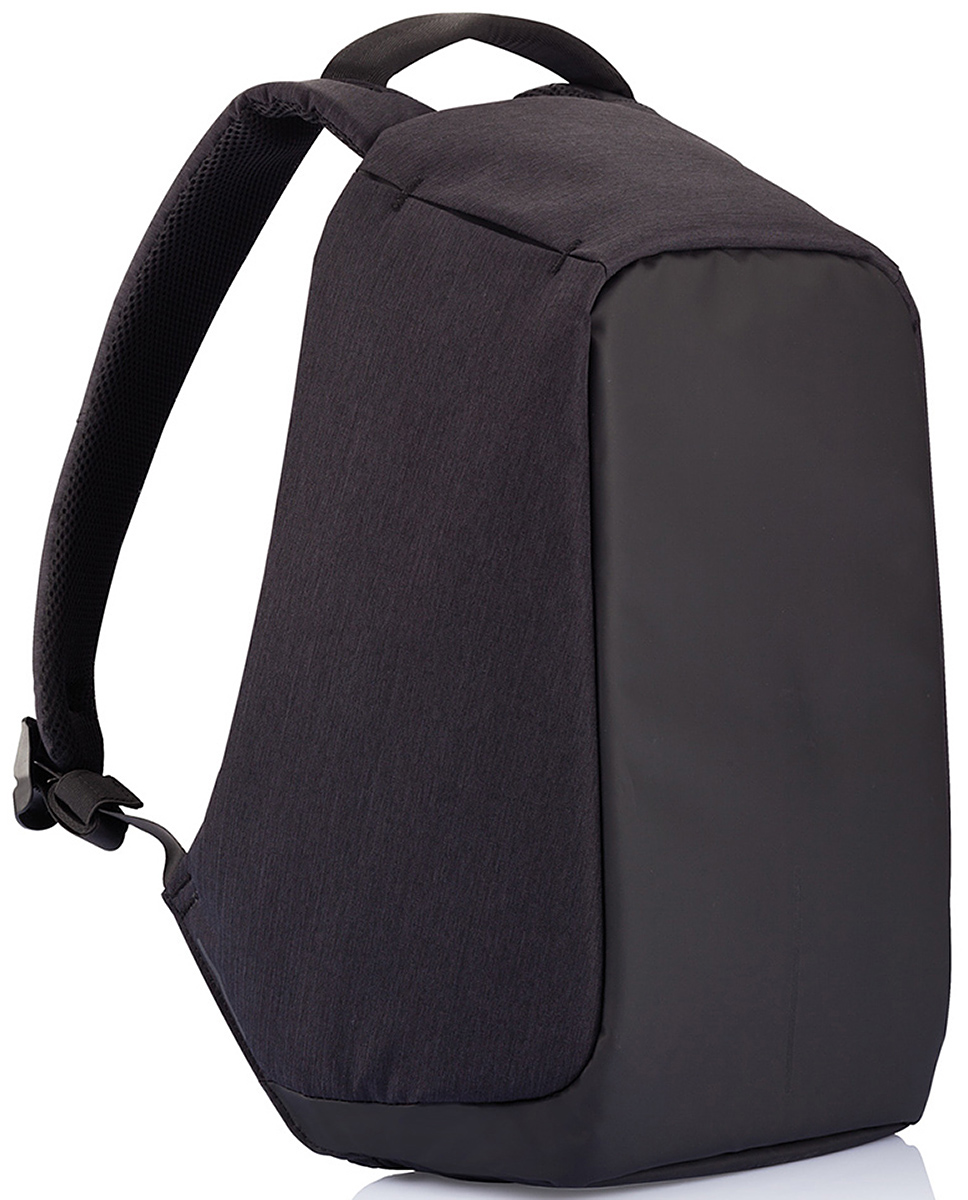 Рюкзак для ноутбука XD Design Bobby до 15,6, цвет: черный, темно-синий, 13 л. Р705.545Р705.545Рюкзак для ноутбука XD Design Bobby очень вместителен и выглядит просто и стильно. Большое количество потайных карманов делает его надежным хранилищем для многочисленных гаджетов. Каждый слой изделия выполнен из своего материала. Вставка из цельного полипропилена создает твердый каркас, который защищает ноутбук от сдавливания и не дает злоумышленникам разрезать сумку. Верхний слой сделан из полиэстера, не пропускающего влагу внутрь. Глядя на рюкзак, сложно понять, как он открывается. Его молния скрыта за толстым тканевым изгибом на тыльной стороне, поэтому, пока рюкзак находится на спине, расстегнуть его невозможно. Внутри сумки имеются отделы для ноутбука и планшета, а также большая секция для хранения важных мелочей. Между ними – толстые вставки из мягкой ткани, предотвращающие порчу компьютерной техники. Рюкзак может открываться на 30, 90 и даже 180 градусов, поэтому удобен в использовании. Благодаря широким мягким лямкам, он не давит на плечи и не вызывает боли в спине.Особенности:• Полная защита от карманников: не открыть, не порезать.Светоотражающие полосы.Супер-легкий: на 25% легче аналогов.Отделение для ноутбука до 15,6.Отделение для планшета.Влагозащита.Лямка для крепления на чемодан.Для жителя мегаполиса очень критично быть на связи, поэтому разряженная батарейка на телефоне, может стать большой проблемой. Внешний USB-порт рюкзака Bobby позволит с легкостью подзарядить телефон в дороге. Нужно лишь подсоединить к кабелю внутри рюкзака свое зарядное устройство, и, когда вам будет необходимо, вы сможете, используя свой кабель, подключить телефон к USB – порту, расположенному на лямке рюкзака.