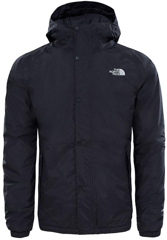 Куртка мужская The North Face M Berk Ins Shell Jkt, цвет: черный. T92ZWJJK3. Размер XL (50/52)T92ZWJJK3Мужская куртка The North Face выполнена из нейлона и дополнена спереди логотипом бренда. Подкладка изготовлена из полиэстера. Куртка с несъемным капюшоном застегивается на застежку-молнию и ветрозащитную планку на кнопках. Рукава дополнены эластичной резинкой. Спереди расположены два прорезных кармана.