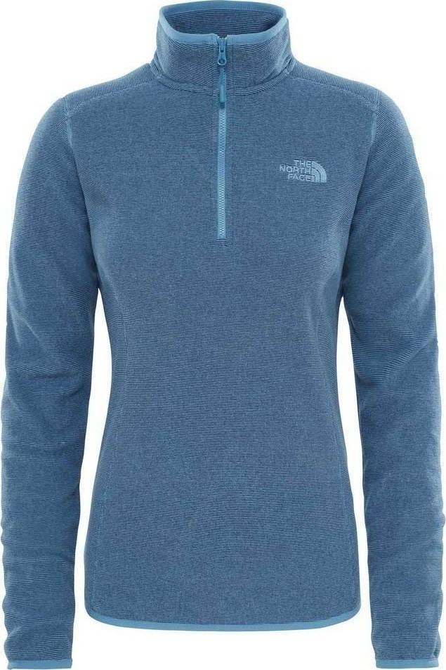 Толстовка женская The North Face W 100 Glacier 1/4, цвет: синий. T92UAVWXX. Размер S (42/44)T92UAVWXXПрактичная женская толстовка The North Face выполнена из 100% полиэстера. Модель с длинными рукавами и воротником-стойкой застегивается на застежку-молнию и дополнена спереди логотипом бренда.
