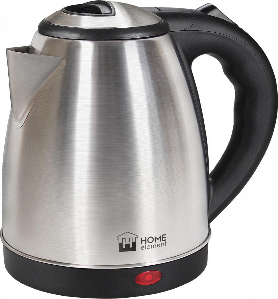 Home Element HE-KT177, Black Steel чайник электрическийHE-KT1771800W 1,7л сталь автоотключение при закипании/отсутствии воды световой индикатор работы